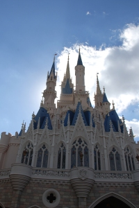 Cinderella's Castle on Christmas Day