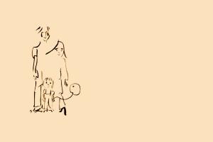 John Lennon's sketch of his family