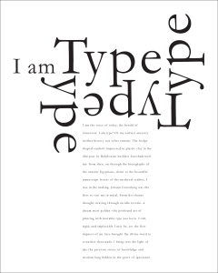 typography layout that demonstrates rhythm