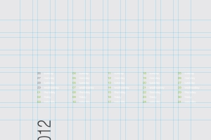twelve column grid for calendar design