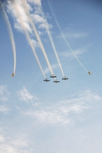 aerial formation at the Rocky Mountain Air Show