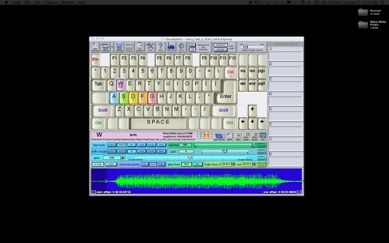screen shot of the Soundplant  software interface