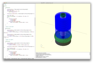OpenSCAD screen shot of my completed project.