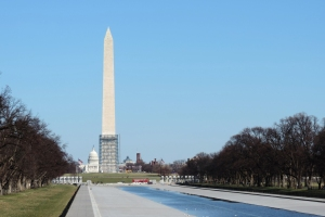 Washington Monument and the reflection pool