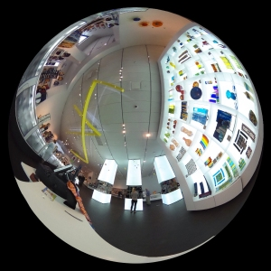 360-degree camera image of the Denver Art Museum gift shop